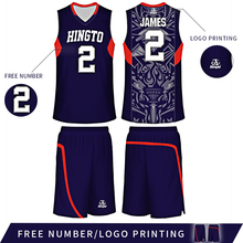 Customized reversible sublimation digital printing men's basketball uniform