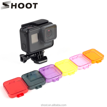 Colorful Gopro 5 Hero5 Underwater Housings Lens Filter Red for GoPro Hero 5 camera