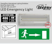 Rechargeable Emergency Exit Lights LED fire safety exit signs emergency warning light