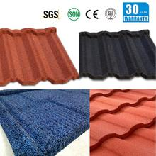 high quality stone chip coated roof tiles decorative roof lining