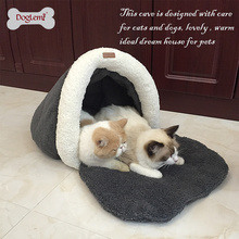 Washable Warm Pet Cave Dog Winter Cat Rustle Sack House