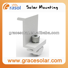 solar clamps mounting kits, panel rails mounting kits, pv cable mounting kits