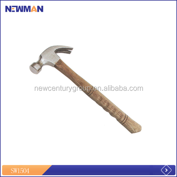 easy-to-access NEWMAN orange and black claw hammer