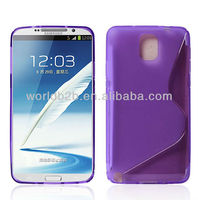 """S"" Shape TPU Gel Case Cover for Samsung Galaxy Note 3 N9000"