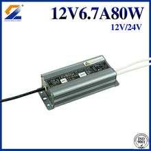 outdoor IP67 Aluminum extruded Waterproof switching power supply 12V 6.7A 80W for Led Lighting