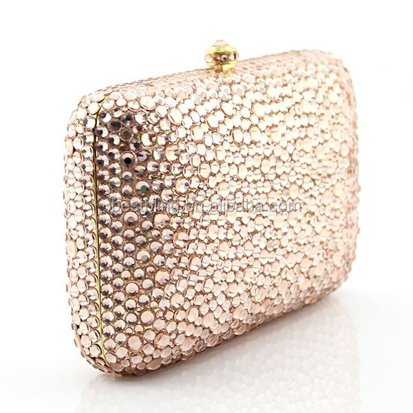 2015 New Ladies Crystal Handmade Diamante Clutch Handbag