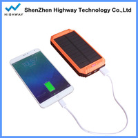 LED Light Design Solar Cell Phone Charger 10000mah with Dual Outputs