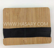 Bamboo Wallet Money Hive - Custom Laser Engraving Service