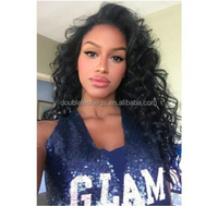 New arrival wet and wavy cheap lace front wig cheap peruvian hair full lace wig virgin remy hair fringer wave wig