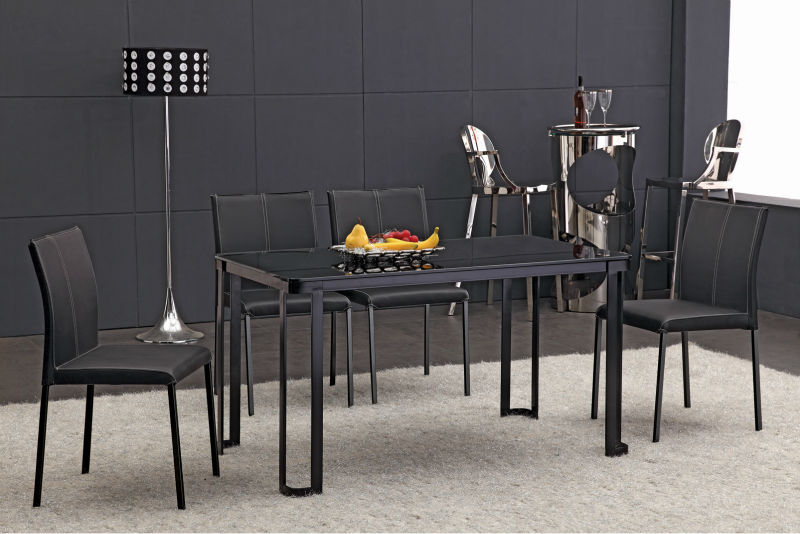 cheap wholesale black lacquer dining room furniture sets