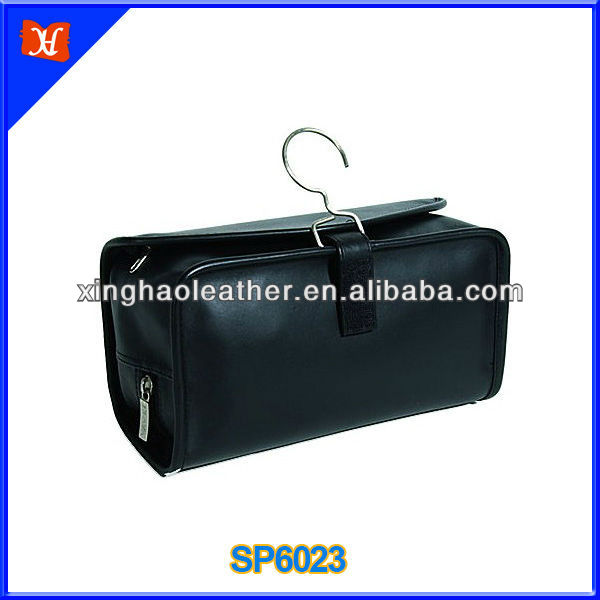 High quality leather hanging toiletry case,folding travel hanging toiletry bag hanging toiletry travel bag small travel bag