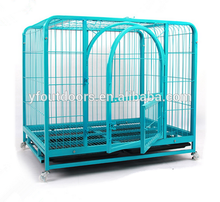 High quality cheap price dog kennel cage stainless steel with wheel