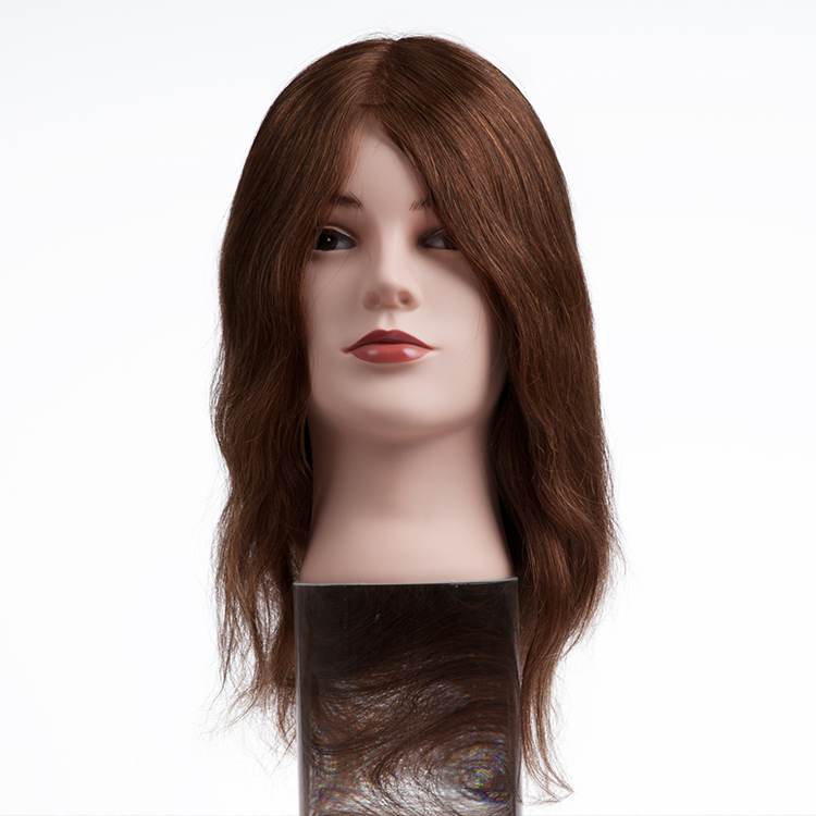 Wholeslae Salon Equipments Silky Straight Long Human Hair Mannequin Barber Training Head