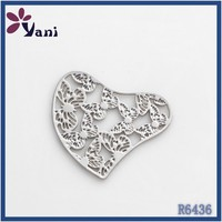 Lead free stainless steel components for findings jewelry plate making unique heart floating pendants locket plate