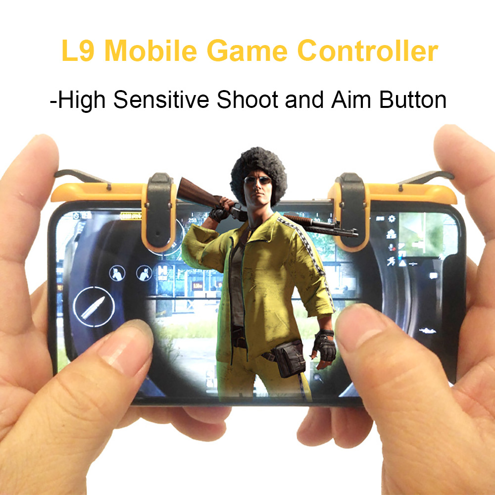 4U Mobile Game Controller Kit, Cell Phone Survival Game Shoot and Aim L1R1 and Gamepad for PUBG