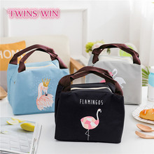 China supplier designer new arrival girls fashion Non woven colorful Flamingo design insulated lunch cooler bag for office