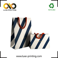 Strips printed fashion paper cosmetic products packaging shopping paper bag