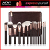 new design high-end 14Pcs rose gold Beauty brush makeup brushes with bag cosmetics set