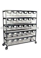Stainless shelf-pen rack