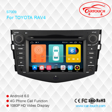 Android 6.0 car GPS multimedia player for Toyota RAV4 with gps navigation with bluetooth radio digital tv