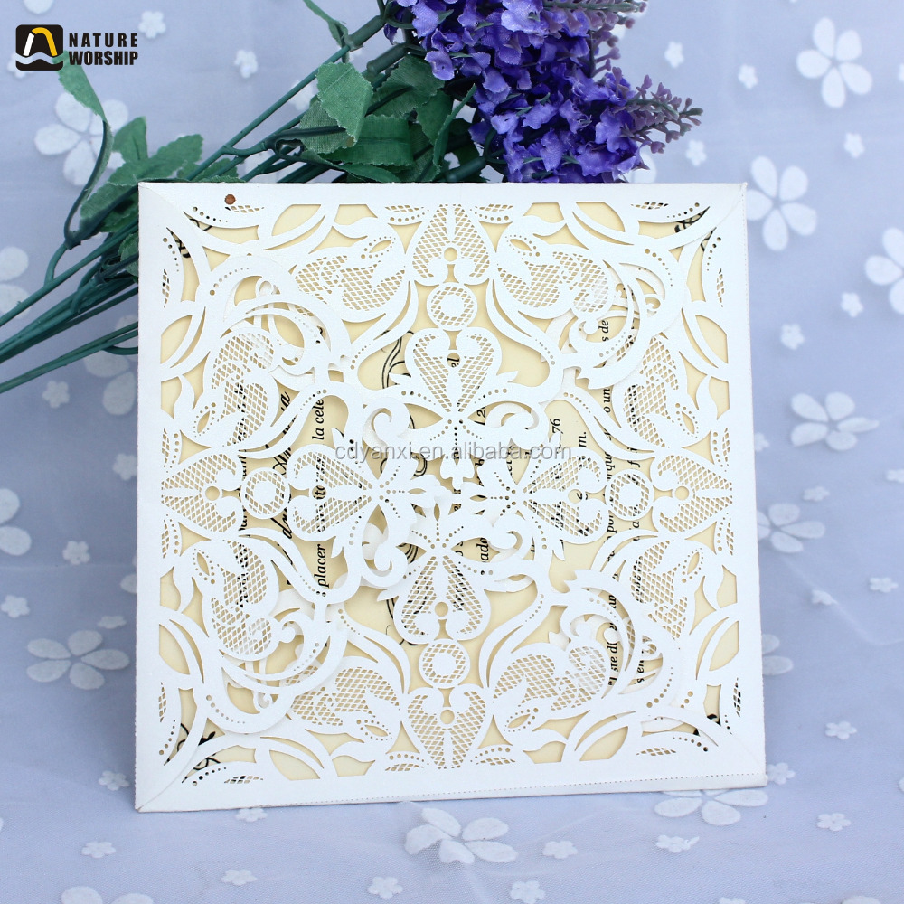 English Luxury Wedding Invitation Cards 2018 Handmade Anniversary Engagement Wedding Invitation Cards