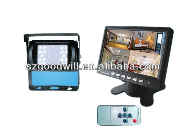 7'' Color Simulation screen and Four split screen series Car Rearview Monitor with high resolution