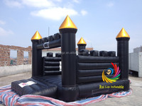 cheap black infltable jumping house for kids
