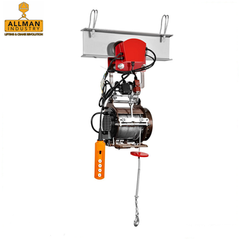 single and double hook lifting mini electric hoist 200kg small cable winch with trolley