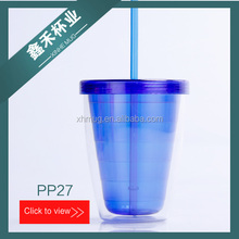 BPA FREE DOUBLE WALL ADVERTISING THERMAL PLASTIC WATER BOTTLE 14OZ DOUBLE WALL TUMBLER