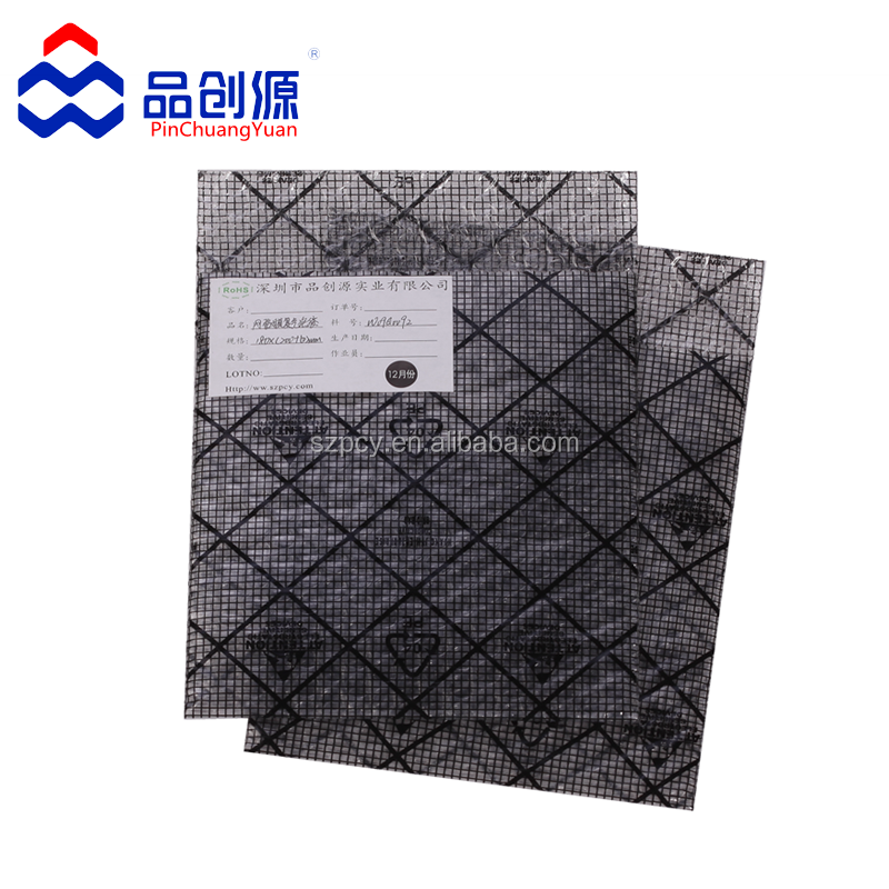 black conductive grid antistatic bubble bags