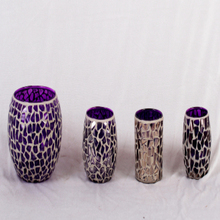 2014 Canton Fair purple mosaic lavendar glass mosaic vase