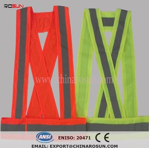 Night running reflective vest jogging safety clothing