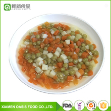 2017 Hot Sale Canned Mixed Vegetables in brine with carrot, peas, beans ,potato