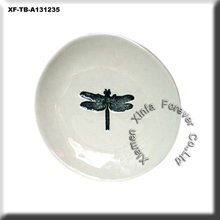 dragonfly mini ceramic bisque round plate