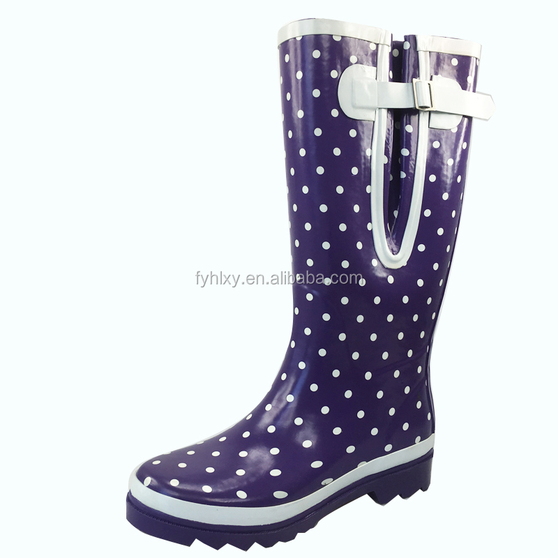 Speical design fit for fat leg women rain boots wide calf boots and wellies
