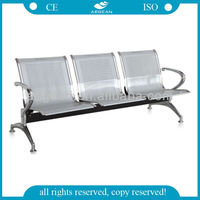AG-TWC001 professional manufacturer ! stainless steel waiting room bench seating