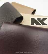 NK P026 chunky embossed leather with solid color for sofa
