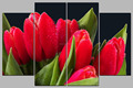 customize flower canvas painting 4 panel photos printed on canvas
