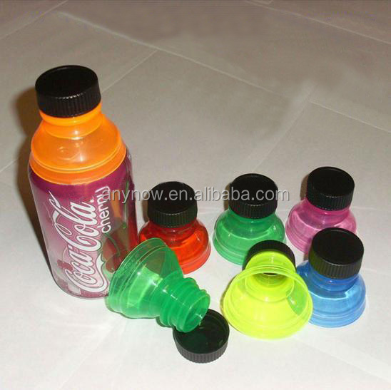 Reusable Snap On Bottle Top Plastic Soda Cans Caps