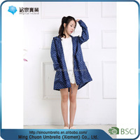 china wholesale high quality long hooded ladies raincoats
