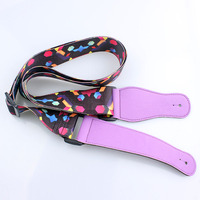 Customized factory price oem rock guitar strap with sample free