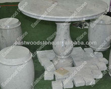 Multicolor grey granite table set