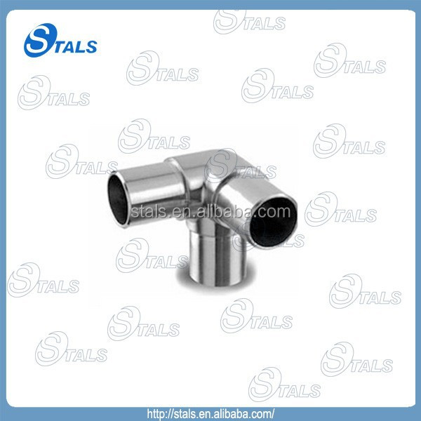 304 stainless steel 3way round tube corner connector with 90 degree