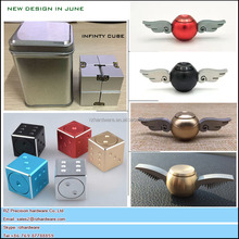 Newest Metal snitch fidget spinner Toy dice Fidget Spinners and infinty cube