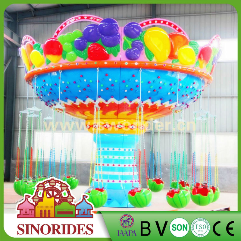 Outdoor Fun Park Rides Flying Carousel 24/36 Seats