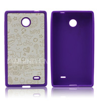 PU+TPU Hybrid combo cell phone case for Nokia X,For Nokia Normandy, A110
