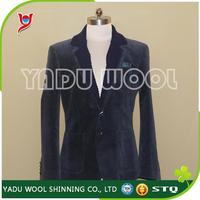 Men's slim fit suit with knitted collar Custom suit/business wear/garment for men and women