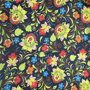 Custom new design high quality digital floral printed patterned viscose fabric