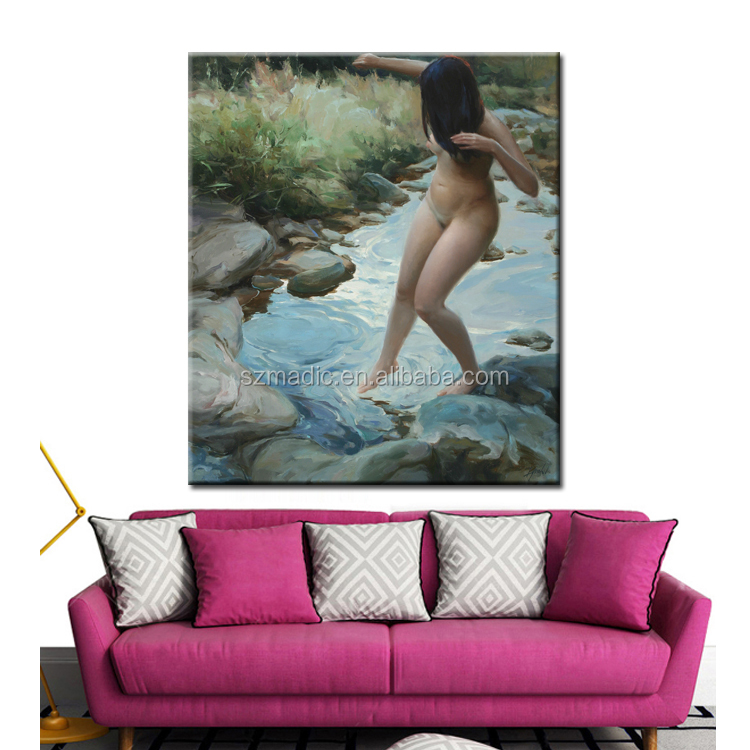 Modern Oil Painting Abstract Wall Art on Canvas Printed Oil Painting Nude Girl Sexy Paintings Picture