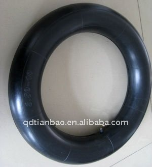 large rubber inner tube and motorcycle tire 300-18